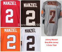 #2 Johnny Manziel Jersey Team Color White Orange 2014 New Draft Elite Game Limited Mens Football Jerseys 2 Manziel Rookie Jersey