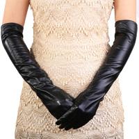 Women's gloves long design gloves genuine leather gloves long thermal long gloves sheepskin gloves