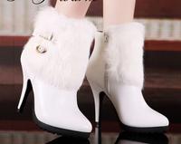 Mo Lei Kou Lei new hair tassel boots heel solid waterproof boots boots