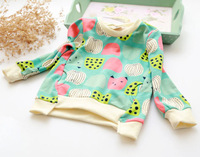 wholesale (5pcs/lot)-child autumn L-7013 girls cartoon  fruits pattern  sweatshirts