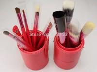 free shipping  12pcs/set Cylinder makeup brushes