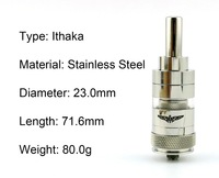 Rebuildable Ithaka Dual Coil Atomizer with Airflow Control RBA Electronic Cigarette DIY Clearomizer with 510 Thread