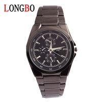 LONGBO brand men's business Watch wrist steel belt Waterproof quartz watches 8546