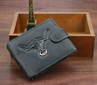 Brand Wallet 2014 Hautton PU  leather male wallet, short design  purse horizontal vintage men wallets