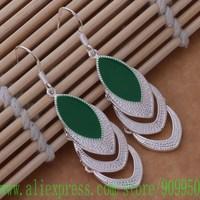 AE575 925 sterling silver earrings , 925 silver fashion jewelry , Three leaves /besajvza ghuaozba