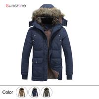 2014 Men Winter Winter Coat Fashion Casual Hooded Style Down Outwear Jacket 4XL Free Shipping