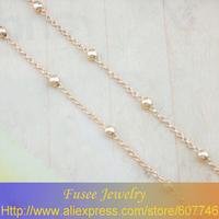 BHH3627 Copper 18K gold plated Russia cc color necklace 2PCS/LOT