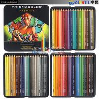 Hot !U.S. imports of crude core Sanford Prismacolor colored silty soft -core lead 72 color pencil tin suit