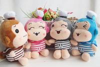 Super Kawaii Lovely 20CM Height NAVY Monkey Plush Stuffed TOY DOLL ; Sucker Car & Room & Window Pendant Bouquet TOY DOLL