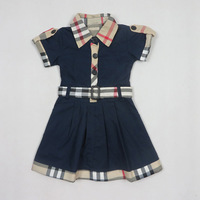 (2-6y)Kidsdress Girls Brand Dress New Summer Baby Grils Princess Dresses pageant Children Plaid Dress Tutu #6189