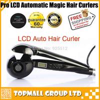 2014 New Pro LCD Hair Curler Automatic Hair Curler Hair Roller Nano Titanium Magic Hair Roller Styler Free Shipping