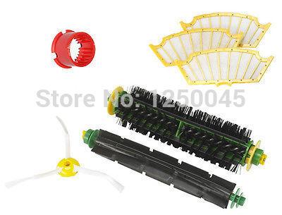 Flexível batedor de cerdas Brush Tool Kit de limpeza do filtro 3 Armados para iRobot Roomba 500 Series 510 530 550 Frete Grátis(China (Mainland))