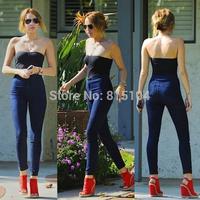 Free Shipping fashion vintage hip slim high waist jeans trousers pencil pants women's jeans female Elastic black blue