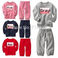 133 Wholesale Boys girls tracksuits Long sleeve+Pants Kids Spring Autumn set children Clothing set children's wear Free shipping