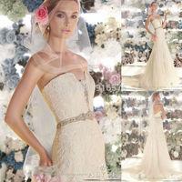 Sweetheart Neckline Slight Mermaid Court Train Delicate Lace Wedding Dress Vestido Noiva Renda Tulle Bridal Gowns