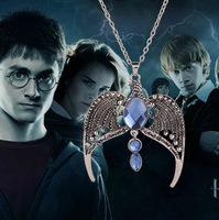 Harry Potter Horcrux Ravenclaw Lost Crown Magic Academy Noble Retro Crown Pendant Necklace