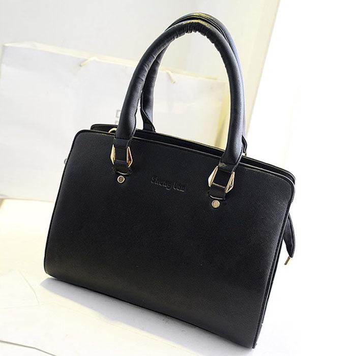 new 2014 fashion women handbags solid European style business bags OL brief portable bag hot grace handbag free shipping(China (Mainland))