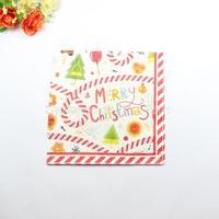 1 Pack 20 PCS Christmas Series Colorful Party Paper Napkin 33X33CM Pattern 13