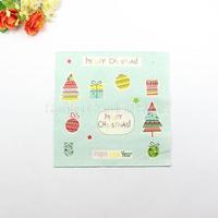 1 Pack 20 PCS Christmas Series Colorful Party Paper Napkin 33X33CM Pattern 14
