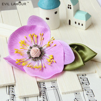 Min.order $15 Free Shipping Vampire Hair Jewelry Gothic Leaf Hairgrip Princess Orchid Flower Hairclip Gift Hair Accessory FJ-28