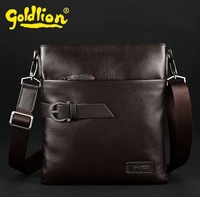 Real brand leather male baotou layer cowhide single shoulder bag Inclined should