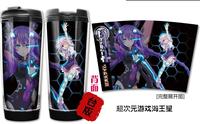 New Japanese Anime Cartoon Hyperdimension Neptunia Double Heat insulation Eco-Friendly Water Cup Glass