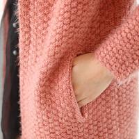 2014 autumn loose medium-long mohair sweater cardigan sweater plus size clothing