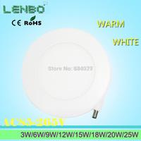 Ultra thin design 3W/6W/9W/12W/15W/18W/20W/25W LED ceiling recessed grid downlight / slim round panel light free shipping