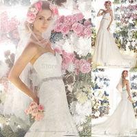 Sweetheart Neckline Gorgeous Lace Top Designer Wedding Gown Women Dress Wedding Mermaid Floor Length Beaded Band