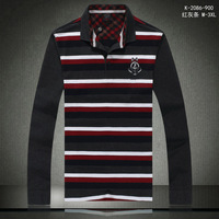 Free Shipping in stock size Good quality men 's polo shirt long sleeve shirts for men Free shipping to all over the world