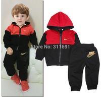 Retail 2014 NEW arrive brand  nk children sport suit 2 pcs set children cloth children sport clothing children autumn set