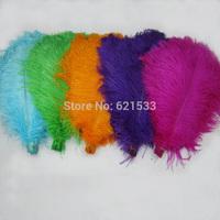500pcs/lot Ostrich Feathers Decor Wedding&Home,16-18inch/40-45cm,light blue,lime green,orange,purple,rose EMS freeshipping
