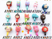 Headphone cable winder silicone Winder figures and animals silicone cable winder, free shipping(China (Mainland))