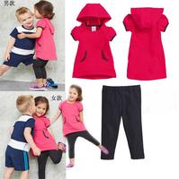 Wholesale 2014 new arrive low price girls brand AD sport suit children clothing set kids cloth set children cloth