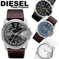 Mens Watches DIESELER Brand Luxury Leather Over Watches Fashion Sport Watches For Men DZ Quartz Watches