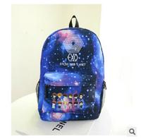 New GALAXY travel bag vintage women printing backpack 2014 blue sport school bags College Wind lady and men's backpacks bolsas