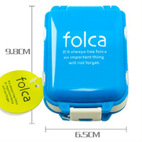 folca small kit free shipping portable mini three sections one week three layer 8 grid storage box seal kit Multifunctional