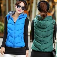 Fashion vest winter women 2014 short female vests outerwear jacket spring vest casual coats thickening vests coats for girls