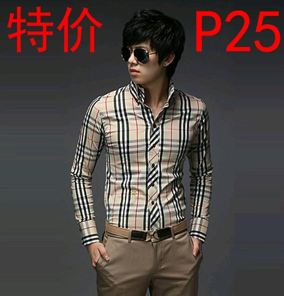 2014 Men's European and American style fashion new long-sleeved shirts, England shirts(China (Mainland))