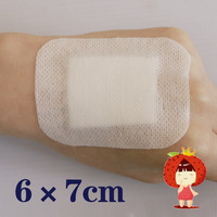 Medical applicator large breathable individually wrapped sterile adhesive wound paste 6 * 7cm  80pcs/bag