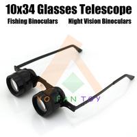 New Portable 10x34 Optical Telescope Eyeglasses Telescope Fishing Binoculars Night Vision Binoculars For Opera Theater Fishing