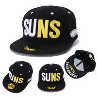 2014 Hot Baseball Snapback  Black Hats Hip-Hop Adjustable Bboy Cap-Fast Shipping