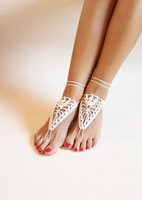 Crochet black barefoot sandals,Nude shoes,Foot jewelry,Victorian Lace,Yoga shoes,Bridal anklet,beach accessories,black sandels