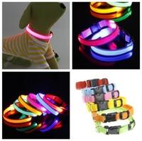Night Flashing LED Cat Collar Cat Safety In Night Free Shipping