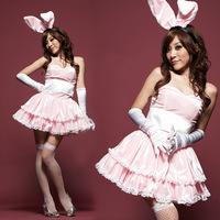 Sexy lingerie rabbit girl game uniforms racy underwear midnight 2014 ultra feminine pink sleepwear rabbit fitted clothing