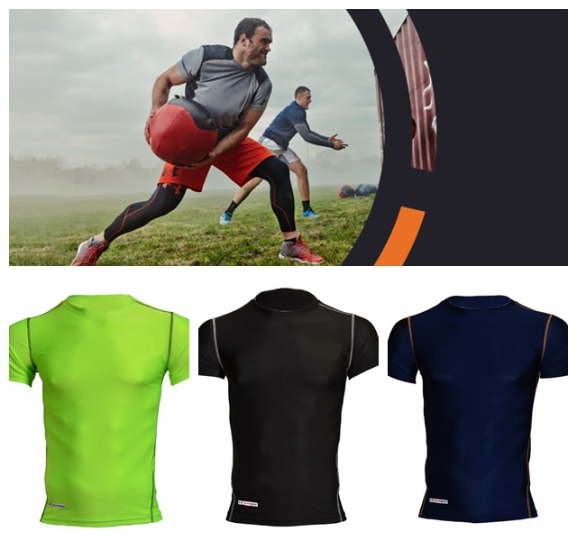 2014 MEN'S UA TECH HEATGEAR SONIC COMPRESSION SHIRTS INDOOR/OUTDOOR/GYM SPORTS TOP TANKT PRO BODYBUILDING FITTING CLOTHINGS(China (Mainland))