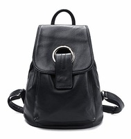 2014 Brand Fashion Genuine Leather Preppy Style Women Backpacks Casual First Layer Real Leather College Backpack Free Shipping