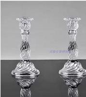 1pc ,not 1 pair. European classical ideas transparent crystal glass candlestick Wedding hotel western-style romantic dating