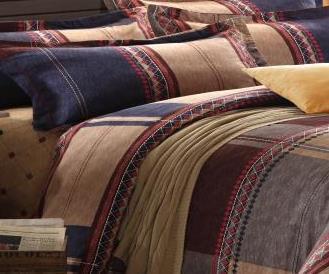 2014 new fashion 4pcs natural cotton plaid sheet British style boutique free shipping high degree of light-fastness(China (Mainland))