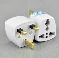 Universal EU US AU to UK AC Travel Power Plug Charger Adapter Converter Travel Adaptors UK 3 Pin AC Power Plug Free